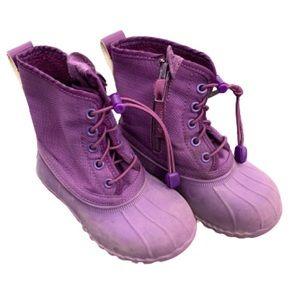 Native Boots Girls 8C Purple Side Zip Toggle